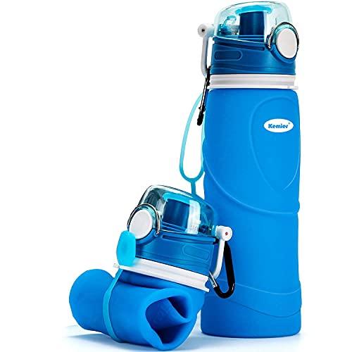 Kemier kollabierbare Silikon-Wasserflaschen-750ML,...