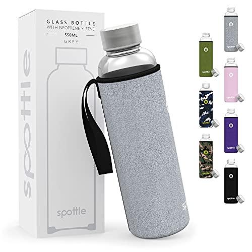 Spottle® Glasflasche mit Neoprenhülle in 950ml...