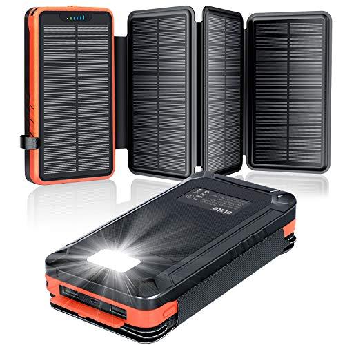 Solar Powerbank 26800mAh, elzle Solar Ladegerät...