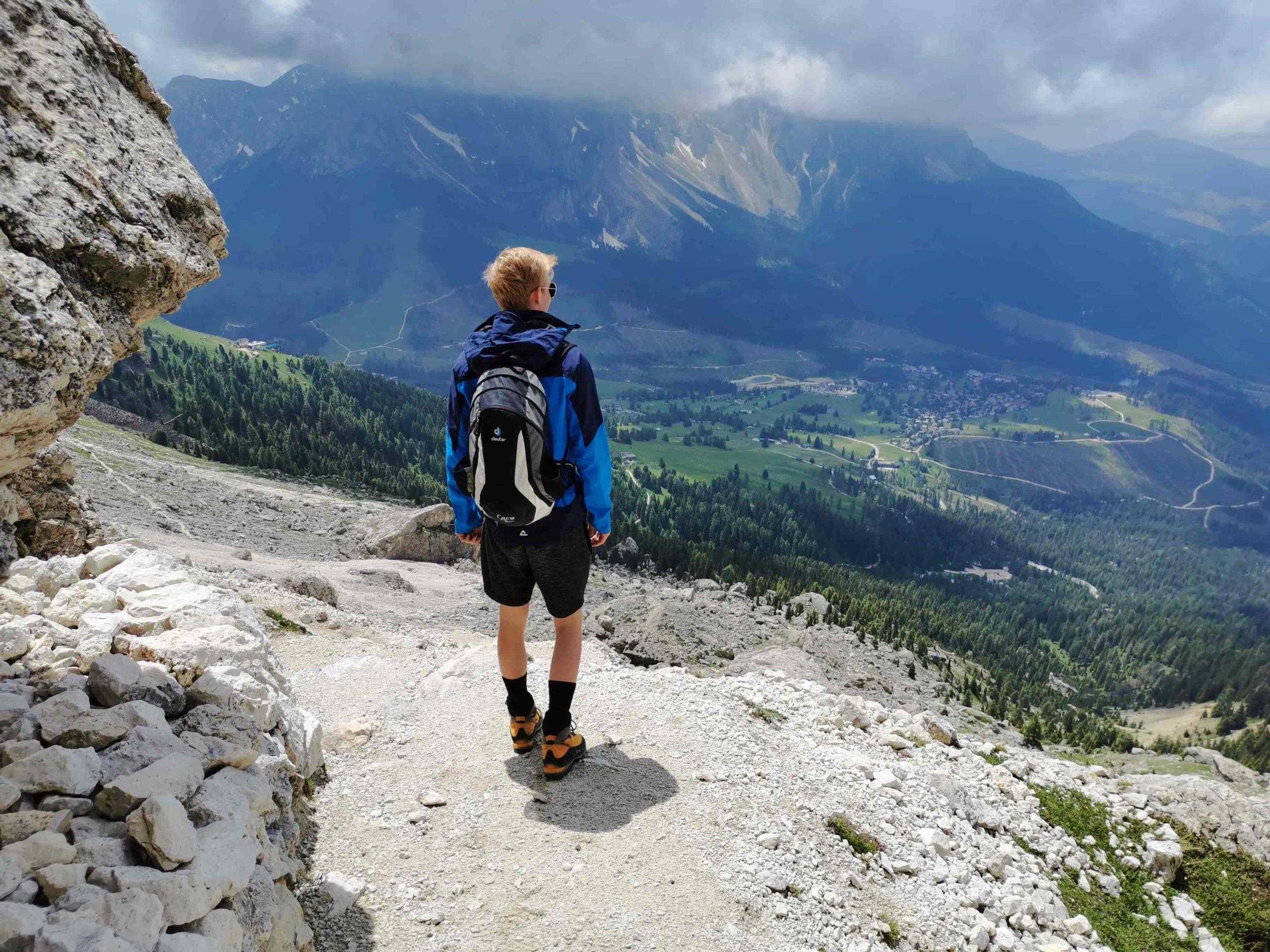 Wandern Aussicht von Rosengartengruppe