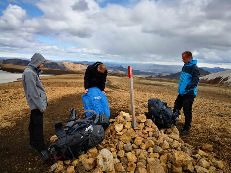Trekking Pause in Island