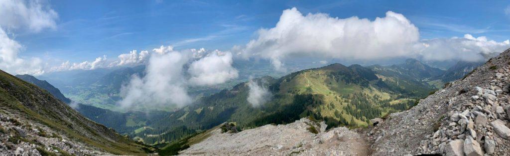 Aufstieg zum Entschenkopf Gipfel