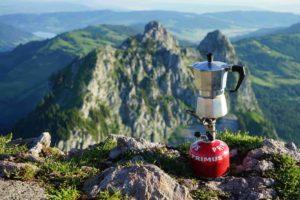 Campingkocher auf Berg
