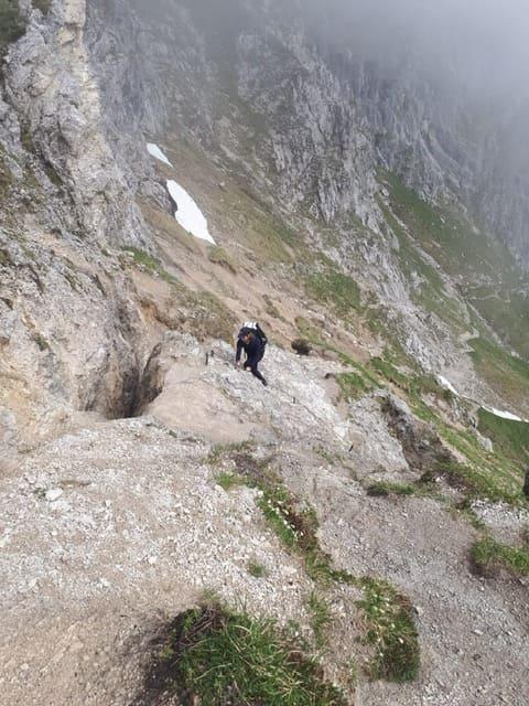 Erster Aufstieg nach der Brunnenkopfhütte