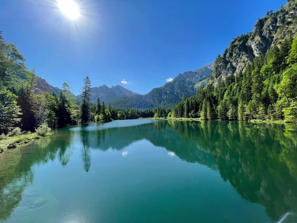 See auf dem Weg nach Halblech